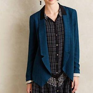 Anthropologie Cartonnier Camello Draped Blazer
